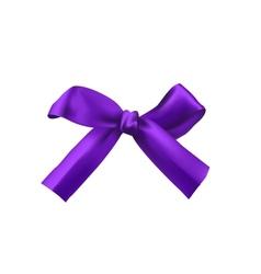 Realistic purple bow vector