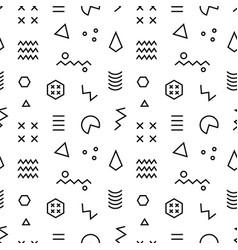 Retro memphis seamless pattern vector