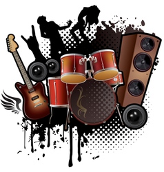 Rock Music abstract vector image