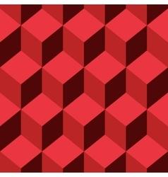 Seamless pattern cube art vector