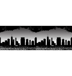 Seamless Pattern of Cities vector