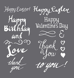 Set of greeting inscriptions vector image