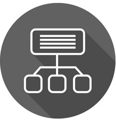 Sitemap icon vector