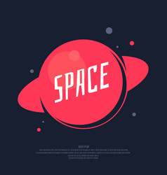 space poster and a template for your text vector image