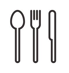 Spoon fork and knife sign vector