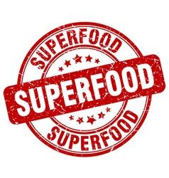 superfood red grunge round vintage rubber stamp vector image