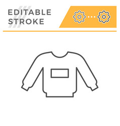 sweatshirt editable stroke line icon vector image