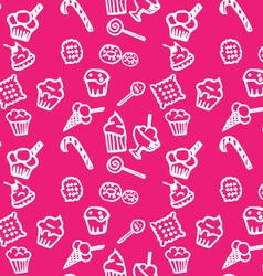 Sweets white pattern vector image