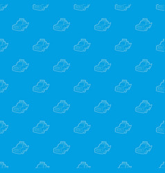taxi pattern seamless blue vector image