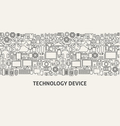 Technology device banner concept vector