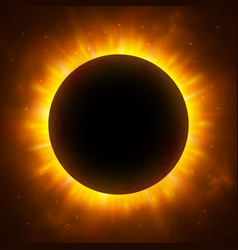 Total eclipse of the sun with corona solar vector