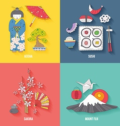 Travel to Japan vector