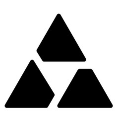 Triangle logo symbol - aperture like triangle vector
