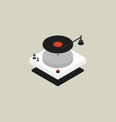 turntable isometric flat design vector image