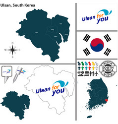 ulsan metropolitan city south korea vector image