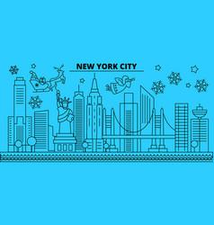 united states new york city winter holidays vector image