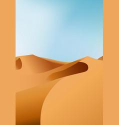 vertical endless dry desert landscape with sand vector image