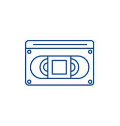 video cassete line icon concept video cassete vector image
