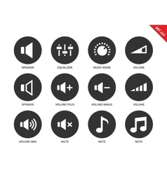 Volome icons on white background vector image