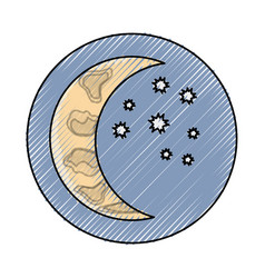 waning crescent vector image