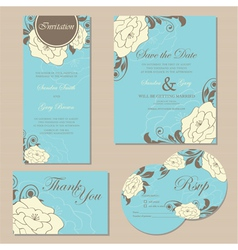 wedding set copy vector image