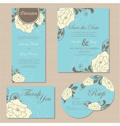 Wedding set copy vector