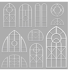 Window frames set white vector