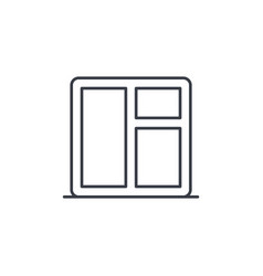 window whith sill thin line icon linear vector image