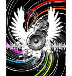 wings music vector image
