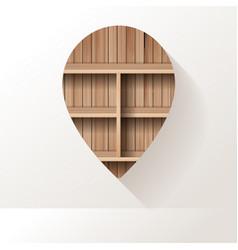 wood shelf on wall room background vector image