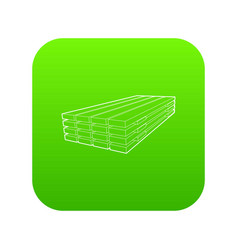wooden boards icon green vector image
