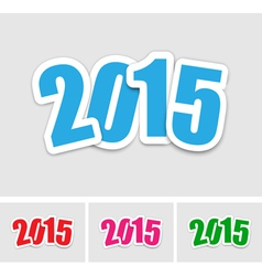 New year 2015 stickers vector image