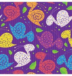 seamless colour snails vector image