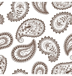 seamless pattern paisley Indian vector image