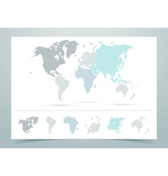 World Map Dotted With Continents vector image