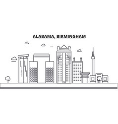 alabama birmingham architecture line skyline vector image vector image