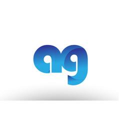 blue gradient ag a g alphabet letter logo vector image