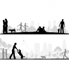 city park designs vector image vector image