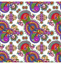 ornate seamless flower paisley design background vector image