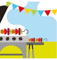 picnic food image vector image