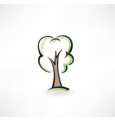 Tree grunge icon vector image