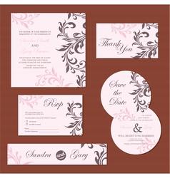 wedding set pink copy vector image