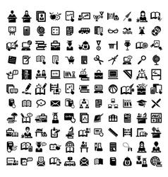 big education icons set vector image vector image