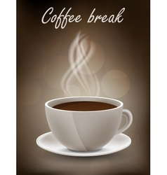 Coffe background vector image vector image
