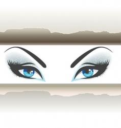 eyes paper vector image