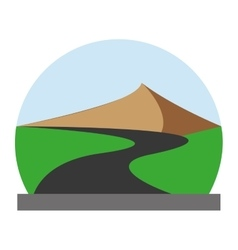 landscape design street icon Flat and isolated vector image vector image