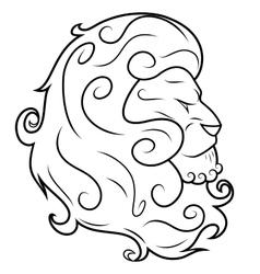 Lion head 3 vector image vector image
