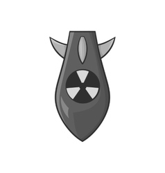 Nuclear warhead icon black monochrome style vector