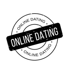 Online dating rubber stamp vector