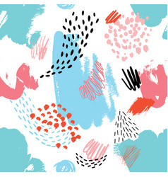 Abstract seamless pattern with hand drawn textures vector